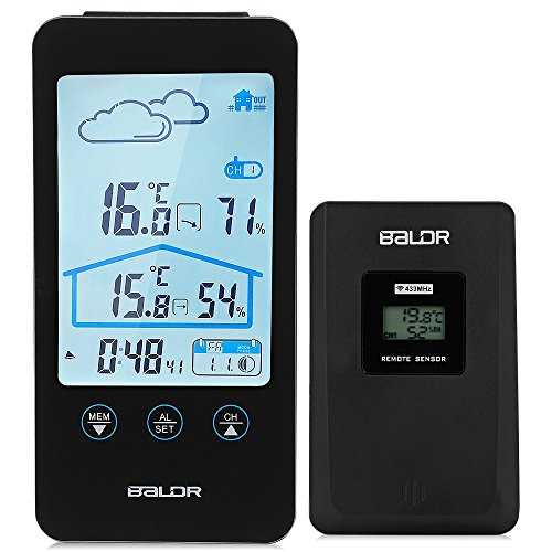 Robolife Wireless Thermometer Hygrometer Touch Screen Weather ...