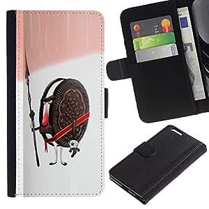 JackGot ( Cookies Guardián Guerrero Soldado Dulces de Azúcar ) Apple (5.5 inches!!!) iPhone 6+ Plus / 6S+ Plus la tarjeta de Crédito Slots PU Funda de cuero Monedero caso cubierta de piel