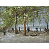 Posters: Vincent Van Gogh Poster Art Print - Lane At The Jardin Du Luxembourg, 1886 (32 x 24 inches)