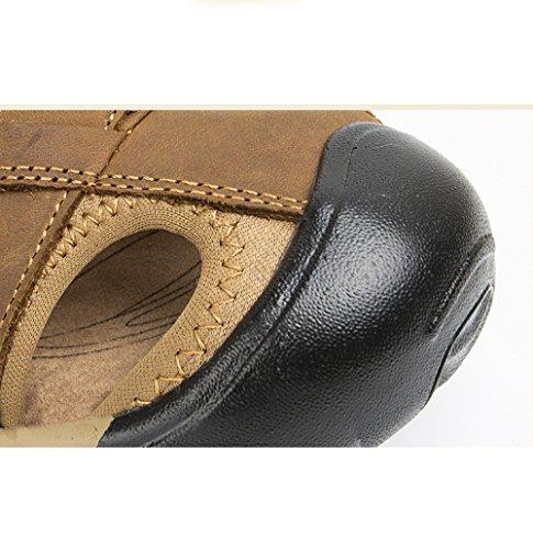Hombres Deportes Darkbrown Casuales Playa Yxlong Aire Baotou Capa Sandalias Primera Verano Nuevos Cuero De Libre Los Al Zapatos 5SRTYSq