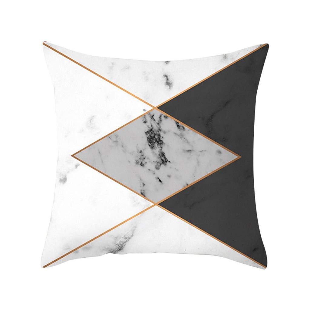 Pet1997 Multicolor Geometric Marble Texture Throw Pillow Case, Super Soft Pillowcase, Cushion Cover, Sofa Home Decor, Luxury Bedding,18 X18 Inch (G)