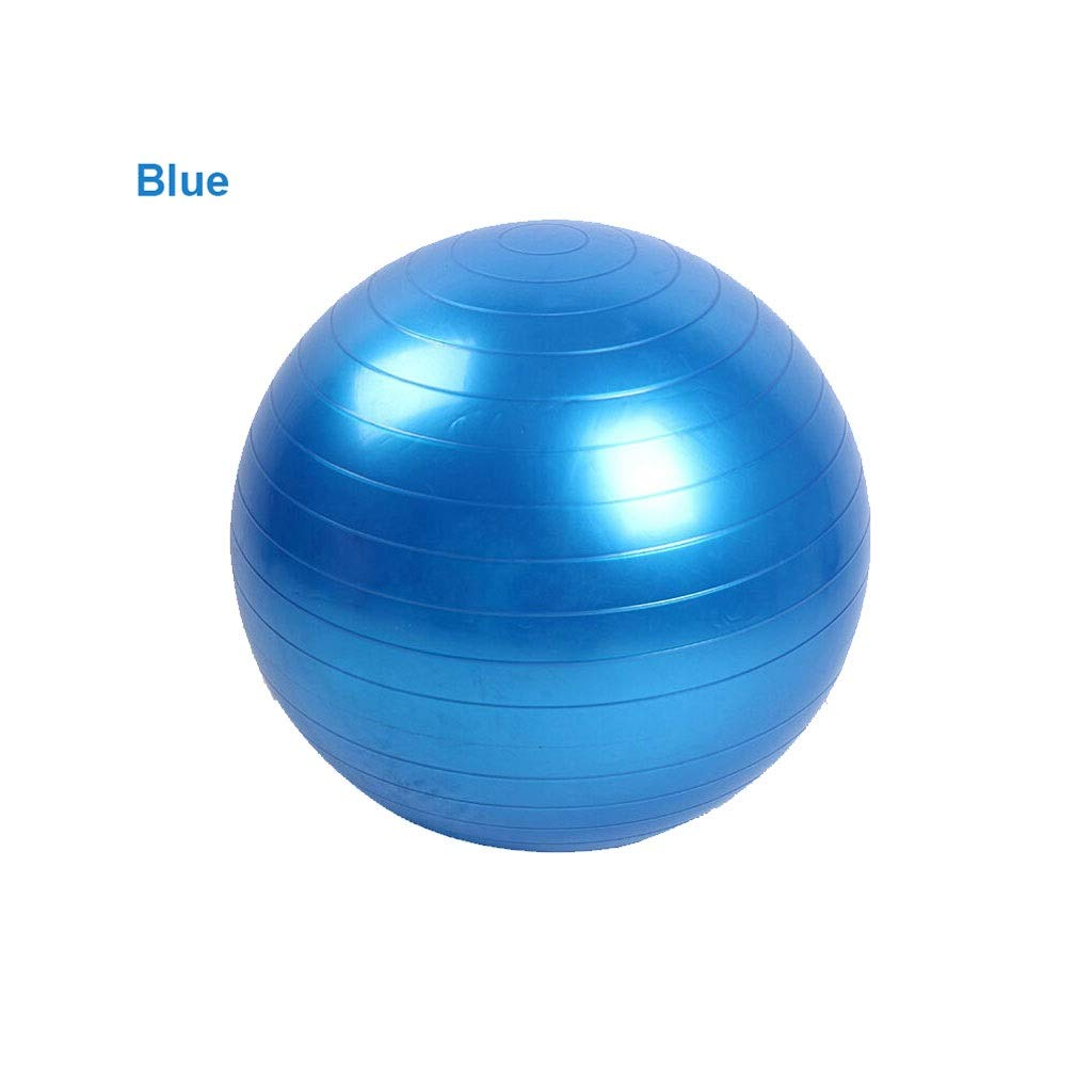 Thickened Explosion-Proof Yoga Ball PVC Smooth Matte Fitness Ball Pregnant Women Moving Ball Shaping Ball (Color : Blue, Size : 65cm)