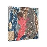 NANA EC Abstract Art Canvas Kintoki Swims up the Waterfall Canvas Wall Prints