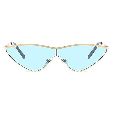 Huicai Triangle gafas de sol mujeres ojo de gato metal verde ...