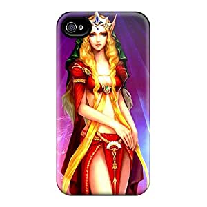 VMoore Perfect Tpu Case For Iphone 4/4s/ Anti-scratch Protector Case (gorgeous Elf Queen)