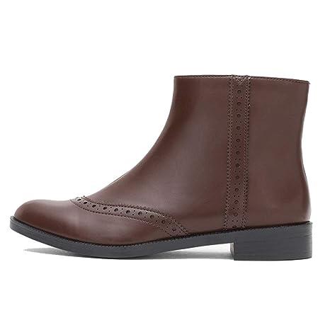 Botas Zapato Botines Planos Martin Botines para Mujer Botines Que se adaptan a Toda tu Ropa