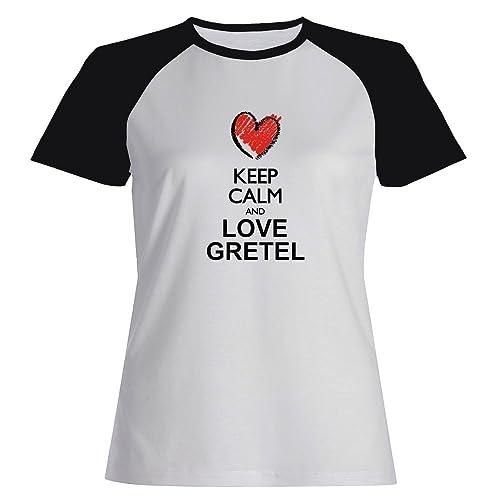 Idakoos Keep calm and love Gretel Maglietta Raglan Donna