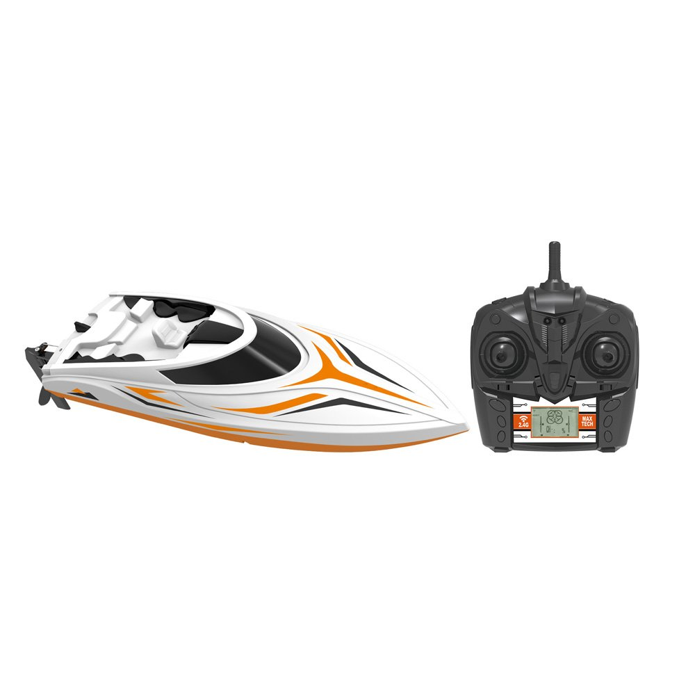 SGOTA RC Boat 2.4Ghz Toy Boats High Speed 18Mph Remote Control Boat Fast RC Boat Racing for Lakes//Pools//Ponds Only Works in Water Orange 1602398