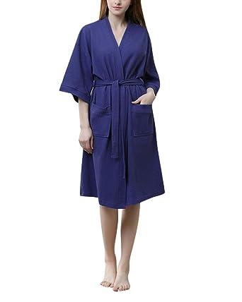 DianShaoA Unisex Albornoz Hombre O Mujer Batas Y Kimonos con Cinturón Suave Cómodo Pijama Housecoat Ropa Abrigo: Amazon.es: Ropa y accesorios