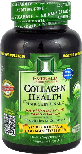Emerald Labs Collagen Health for Hair Skin & Nails -- 90 Vegetable Capsules - 3PC by Emerald Laboratories