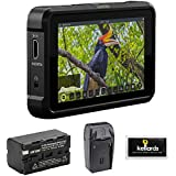 "Atomos Shinobi 5"" 4K HDMI HDR Photo & Video Monitor with NP-F770 Lithium-Ion Battery, AC/DC Charger & Screen Cleaning (5-Pack) Bundle"