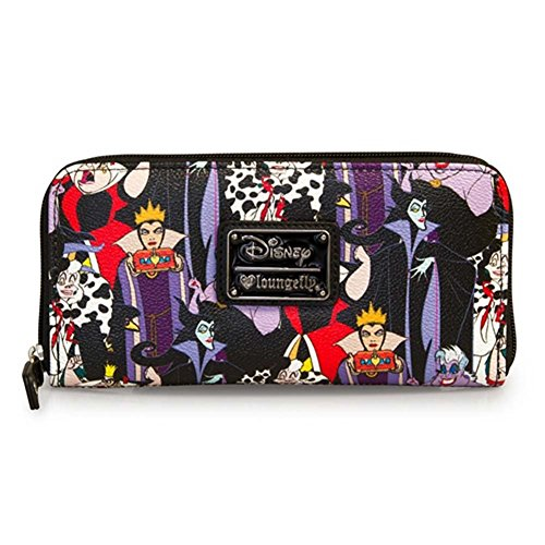 Disney Villains Zip Around Wallet Standard (Simulated Leather Zippered)