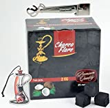 Charco Flare Natural Coconut Hookah Charcoal 144 Shisha Coals 2kg Box Large Cubes With Starbuzz Tongs And Foil Poker And Shisha Car Air Freshener