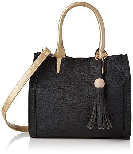 SwankySwans Women's Brooklyn 2 in 1 Bag Shoulder Bag Black (Black)