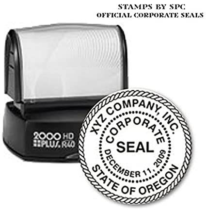CORPORATE SEAL WITH ROPE BORDER CUSTOMIZED PERSONALIZED STAMP