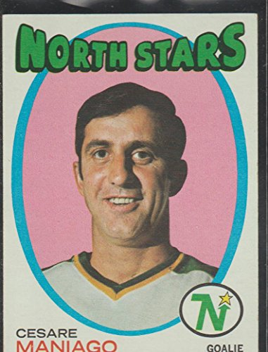 1971-72 Topps Cesare Maniago North Stars Hockey Card #117 ()