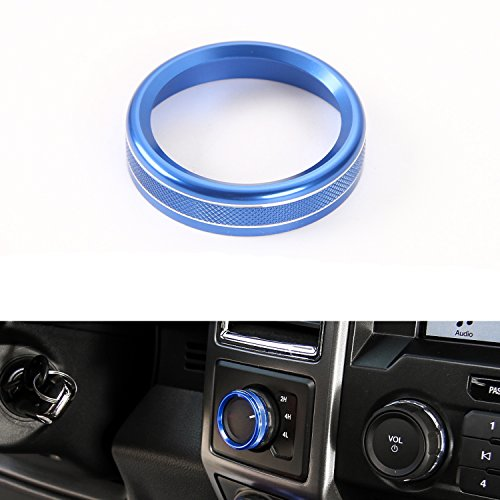 Four-Wheel Drive 4WD Mode Conversion Switch Ring Cover for Ford F150 2016 2017 Interior Trim Accessories (Blue)