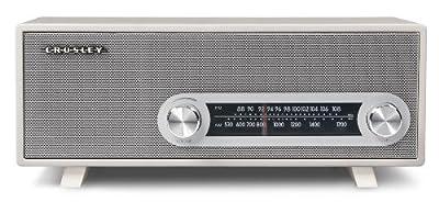 Crosley CR3022A-WH Ranchero Retro AM/FM Tabletop Radio with 3-inch Studio Driver, White by Crosley