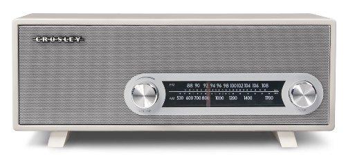 Crosley CR3022A-WH Ranchero Retro AM/FM Tabletop Radio wi...