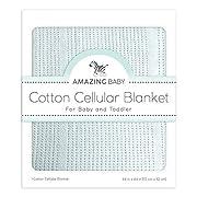 Amazing Baby Cellular Blanket, Premium Cotton, Sunwashed Blue