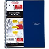 Five Star Wirebound Notebook, 1-Subject, 100 Wide-Ruled Sheets, 10.5 x 8 Inch Sheet Size, Navy (72353)