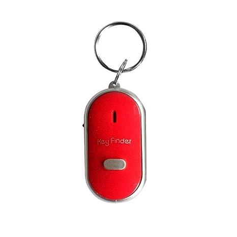 Laurelmartina LED Whistle Key Finder Parpadeante Sonido Control de Alarma Alarma Anti-perdida Buscador de localizador de Llaves con Llavero