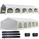 DELTA Canopies 32'x20' PVC Party Tent - Heavy Duty Wedding Canopy Gazebo Carport - with Storage Bags - By
