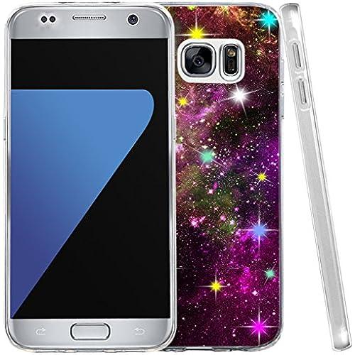 S7 Case, Samsung Galaxy S7 Case Shiny Purple Starry Galaxy Sales
