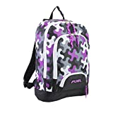 Fuel Girls' Multi Pocket Backpack With Tech Compartment, Wave Pattern, One Size