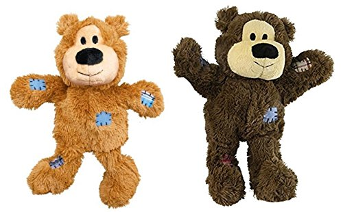 KONG Wild Knots Bears Durable Dog Toys Med/Large Size:Pack of 2