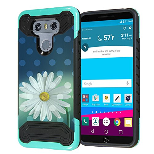 LG G6 Case, Capsule-Case Quantum Hybrid Dual Layer Slim Armor Case (Teal Mint Green & Black) for LG G6 (2017) - (White (Lg Quantum Screen)
