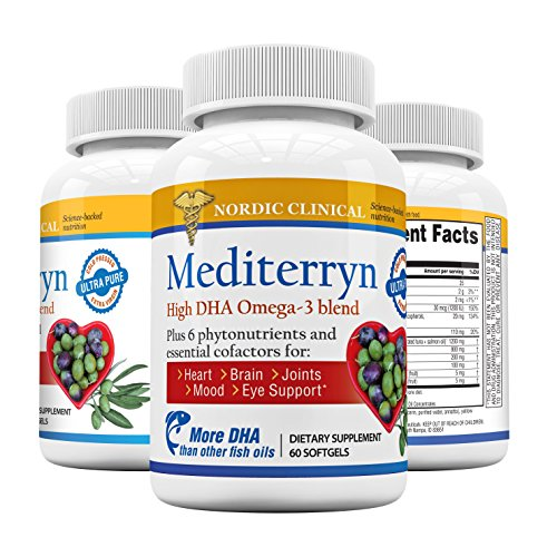 Nordic Clinical - Mediterryn – Omega-3 Supplement – High-DHA Fish Oil – Whole Coffee Fruit Extract – Fresh & Pure – 60 Softgels