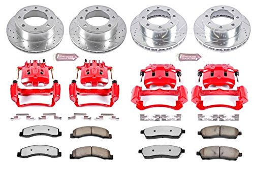 (Power Stop KC1906A-36 Front & Rear Z36 Truck and Tow Brake Kit with Calipers)