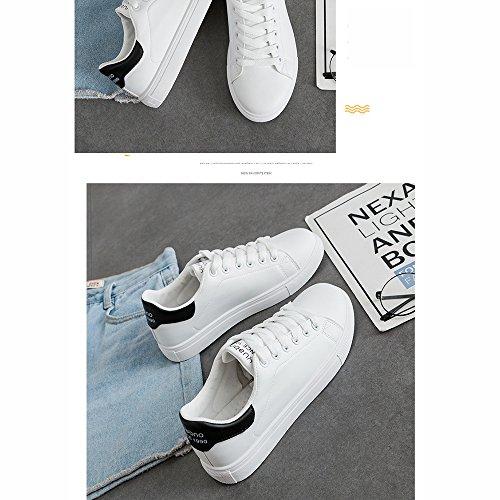 Beat Kong UK5 LVZAIXI Shoes Style Plate Color White Hong 5 Zapatos Negro White Zapatos CN38 Small EU38 Ocio Tamaño Negro Street Acogedor tw8Uq8