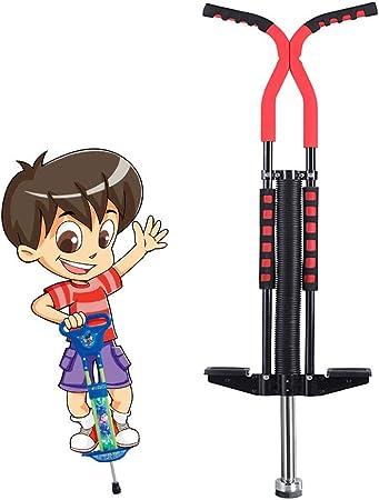 GYE Rebotando Juguetes Completamente el Movimiento del niño Conveniente for Llevar Rebote Palo for los niños y niñas del zanco for Saltar de 8-15 años de Edad Perder Peso (Color : Red):