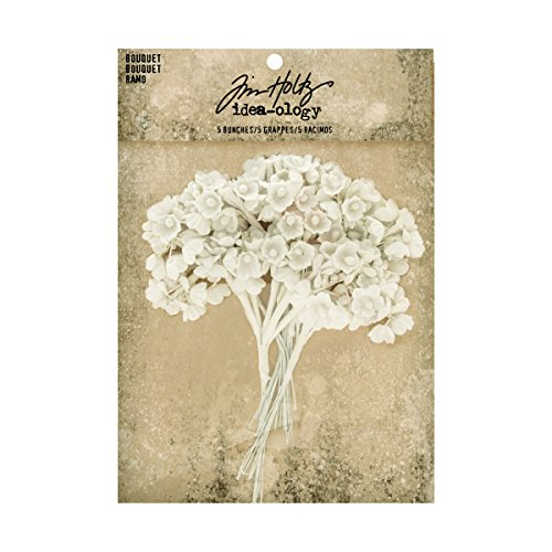 (Bouquet by Tim Holtz Idea-ology. 4 Inches Tall, Package of 5 Bunches (TH93569))
