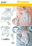 Simplicity Sewing Pattern 2457 Babies' Special Occasion, A (XXS-XS-S-M)