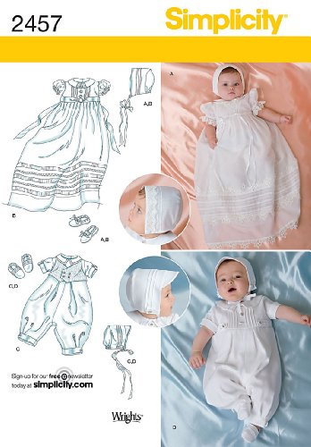 Simplicity Special Occasion Baby Clothing Sewing Pattern, Sizes -