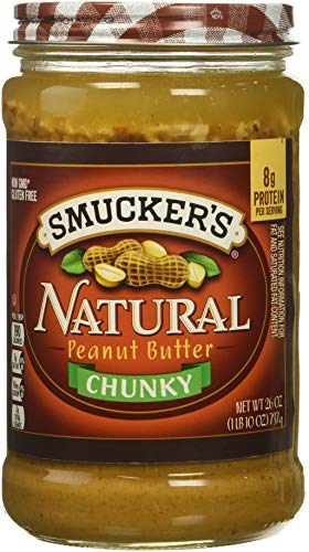 Smucker's Natural Chunky Peanut Butter, 26 Ounce (Pack of 6) ()