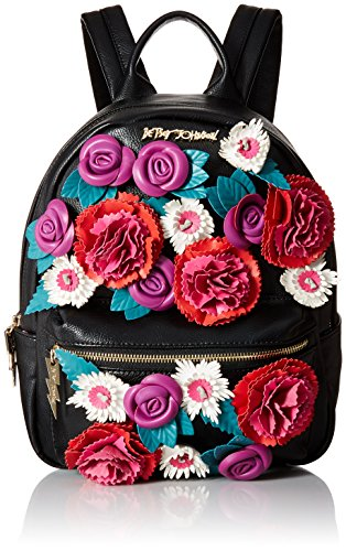 Betsey Johnson Gypsy Rose Flower Applique Backpack  Multi