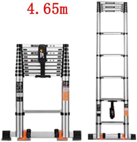 ZPWSNH Escalera telescópica hogar portátil Plegable Subir ingeniería Escalera Recta aleación de Aluminio Taburete (Size : 3.45m): Amazon.es: Hogar