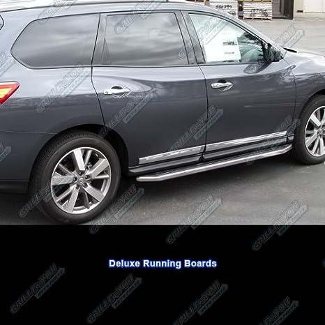APS- Estribo lateral para modelos de Nissan Pathfinder, negro y cromado.: Amazon.es: Coche y moto