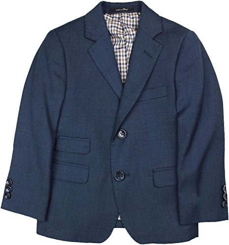 T.O. Collection Boys Blazer Sports Suit Jacket (Slim, Regular, Husky Fits) - Blue, 16 Husky (Husky Suit Jacket)