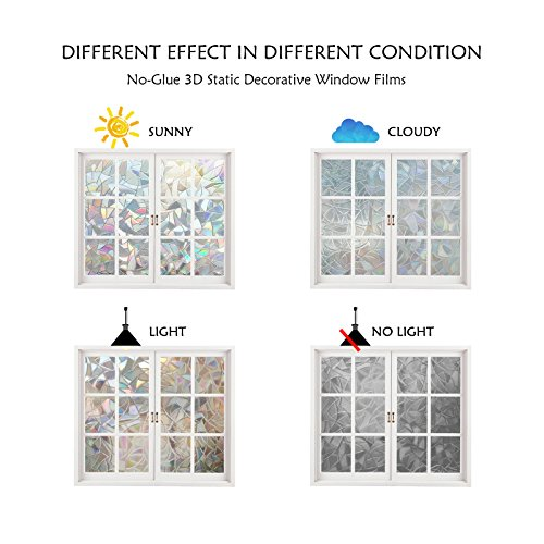 window film 3d static decoration self adhesive for uv blocking heat control privacy glass. Black Bedroom Furniture Sets. Home Design Ideas