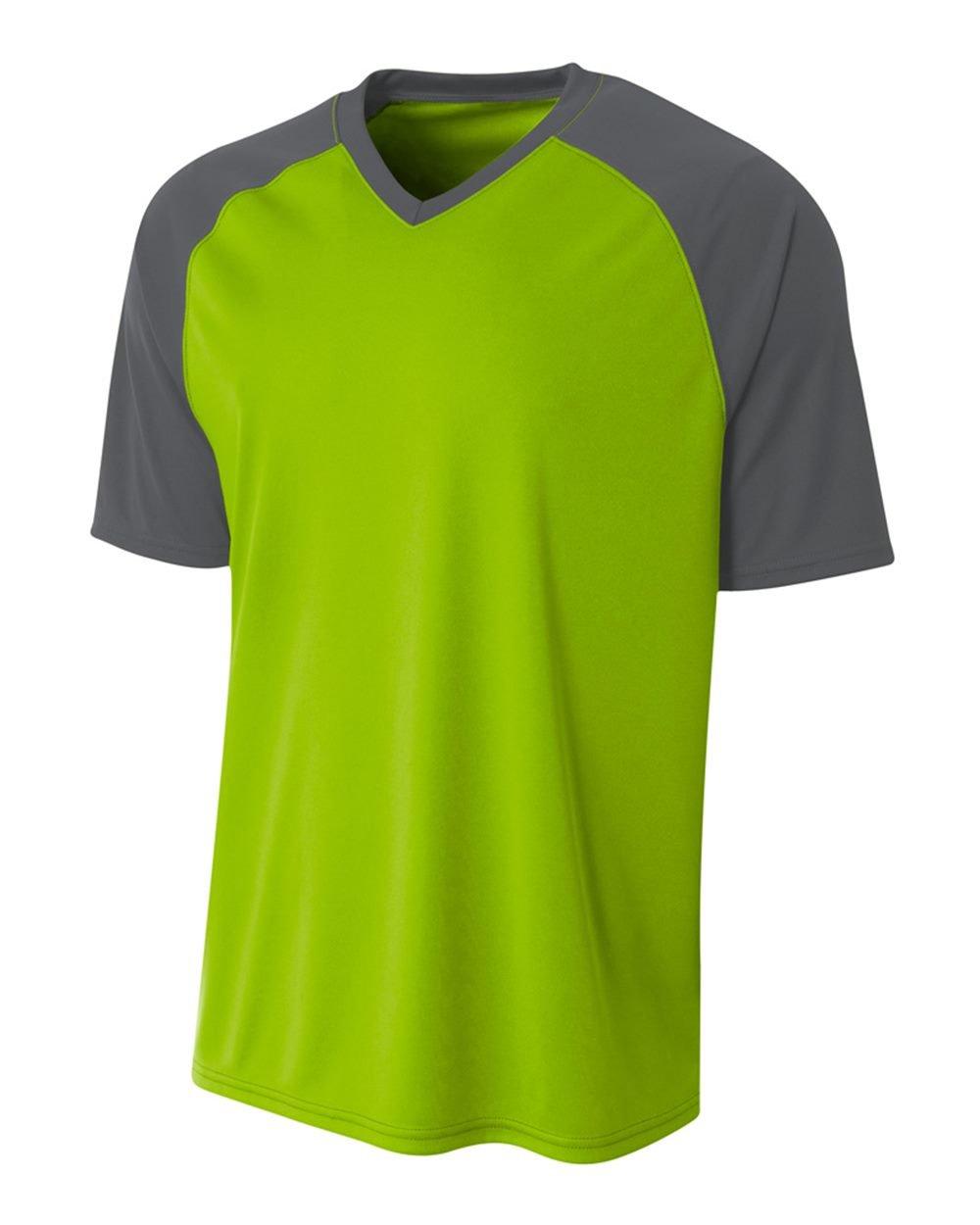 新しいカラーコンボAllシーズン快適スポーツジャージ(野球、ソフトボール、サッカー、ラクロス、Flag Football。。。14色Combosカスタムまたは空白でユース&大人サイズ) B01N9W77F9 Lime/Graphite (Blank) Adult XL Adult XL|Lime/Graphite (Blank)