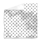 French Fleur-de-Lis Flat Sheet: King Luxury Microfiber, Soft, Breathable
