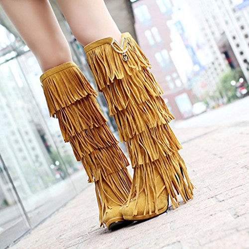 Gialli Grandi The Over Nappa Womens Moda Knee Martin Festa Alta Banchetto Dimensioni Di Taiwan Impermeabile Boots Stivali Coscia Kitzen Giallo Nozze xaB6Ep5xwq