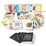 LaPennello 36 Assorted Designs Envelopes Greeting Cards Set