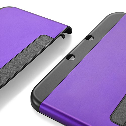 TNP New 3DS XL Case (Purple) - Plastic + Aluminium Full Body Protective Snap-on Hard Shell Skin Case Cover for New Nintendo 3DS LL XL 2015