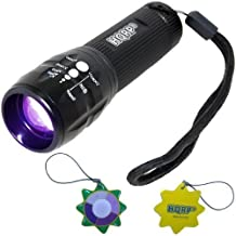 HQRP 390nm 3W LED UV Flashlight with Variable Focus for Search Wounded Prey plus HQRP UV Meter